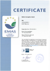 Certified environmental certificate according to EMAS
