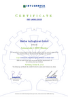 Intechnica environmental certificate ISO 14001:2015